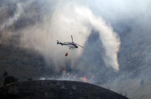 Kim Raff  |  The Salt Lake Tribune View of Dump Fire in Saratoga Springs-Eagle Mountain area in Saratoga Springs, Utah on June 22, 2012.